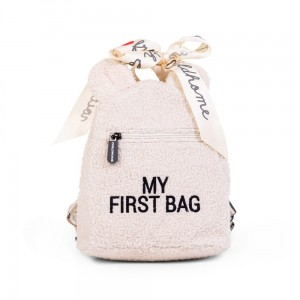 Childhome Plecak dziecięcy My First Bag Teddy Bear White (Limited Edition)