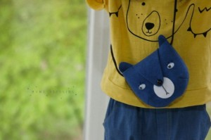 Torebka niebieska Blue Bear Bag Mini Dressing